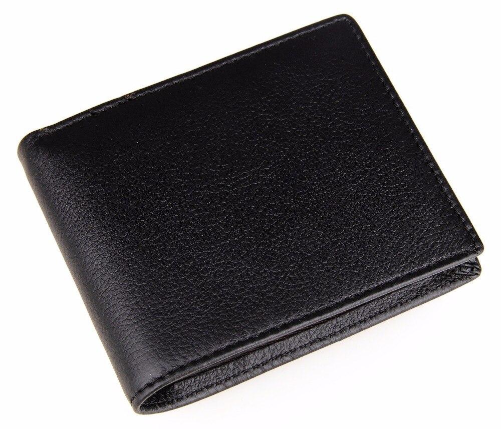 Classic Black Short Wallet For Men US Dollars Bag Multifunctional Short Card Purse For Boys Fashion Plain Small Money Clip mead plain index card
