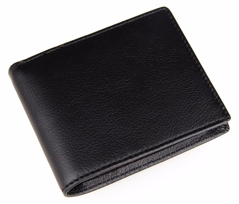 Classic Black Short Wallet For Men US Dollars Bag Multifunctional Short Card Purse For Boys Fashion Plain Small Money Clip