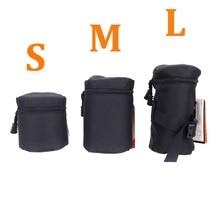 Andoer Waterproof Padded Protector Camera Lens Bag Case Pouch for DSLR Nikon Canon Sony Lenses Bag Black Size S M L