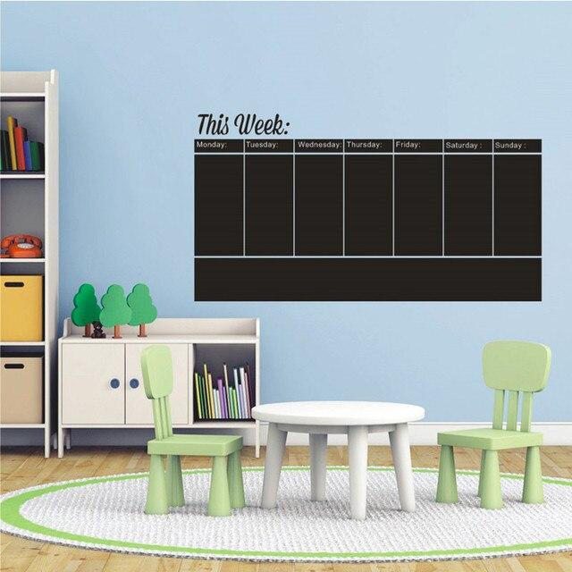 Easy Write And Erase Weekly Calendar Blackboard   Weekly Planner    Chalkboard Wall Decal Vinyl Sticker