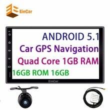 Quad Core Android 5.1 2din Nuevo Universal en el tablero de Coches Radio Doble coche sin Reproductor de DVD de Navegación GPS En el tablero PC Del Coche de Vídeo Estéreo