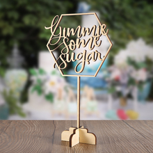 Gimmie Some Sugar Table Top Sign, Sign Dessert Sign,Hexagon Sign,Wedding Party Decoration