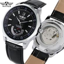 цена на Luxury Brand Automatic Mechanical Watch for Men Stainless Steel Case Leather Band Analog Watches for Teenagers Watch for Man