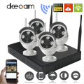 Deecam H.264 NVR Wireless CCTV Kits 4pcs 720P IP Cameras WIFI Waterproof IR Night Vison Home Security Video Surveillance System