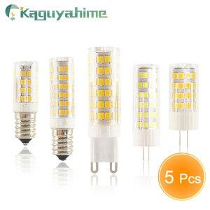 Image 1 - Kaguyahime 5PCS/LOT LED G9 G4 E14 Lamp bulb Dimmable bulb 3w 5w 9w AC 220V DC 12V SMD2835 COB G4 LED G9 Lamp Replace Halogen