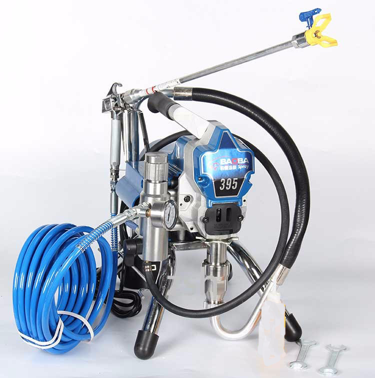 Airless Electric Piston pump airless paint sprayer baoba395 painting machine tool electric airless paint sprayer piston painting machine 395 repair kit