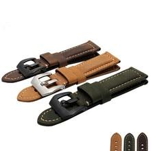 22mm 24mm 26mm Garmin Derek Fenix3 Fenix 3 watch band Crazy Horse Leather Watchband color