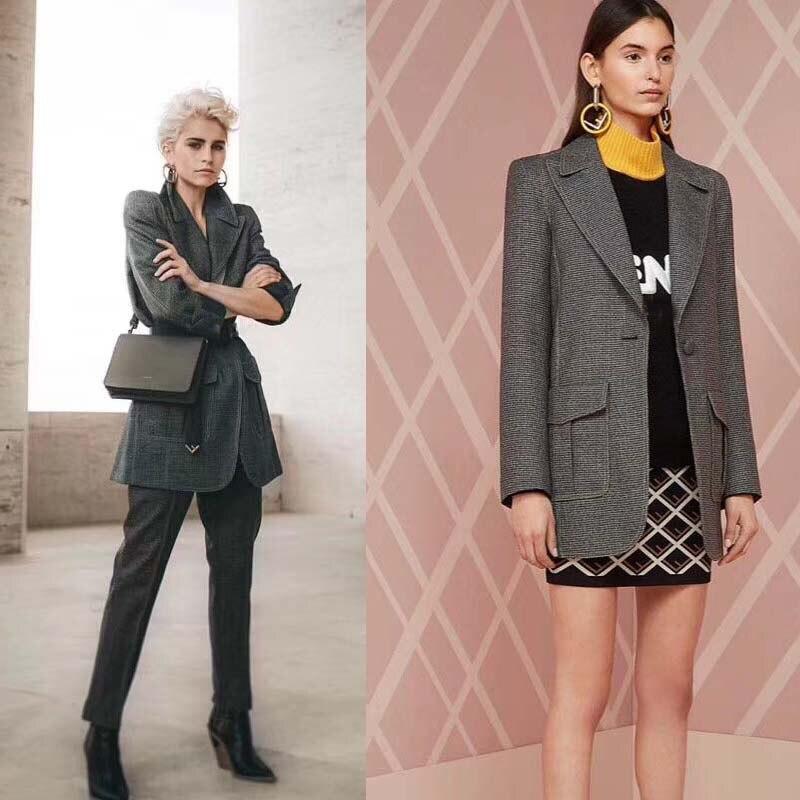 Блейзер mujer 2019 Красивая Женская куртка высокого качества женские блейзеры и куртки модный Блейзер femme vadim wild chaqueta mujer