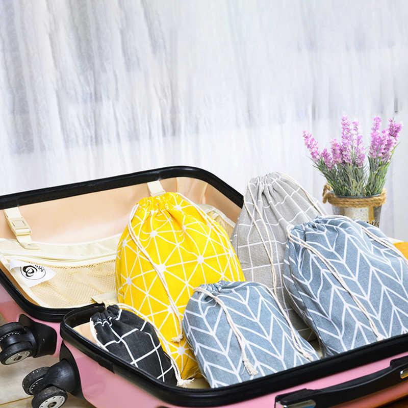 ONEUP Portáteis Sacos de Cordão de Algodão Sacos de Armazenamento Bolsa De Viagem Maquiagem Saco de Roupas Sapatos Organização Bolsa de Armazenamento De Roupas