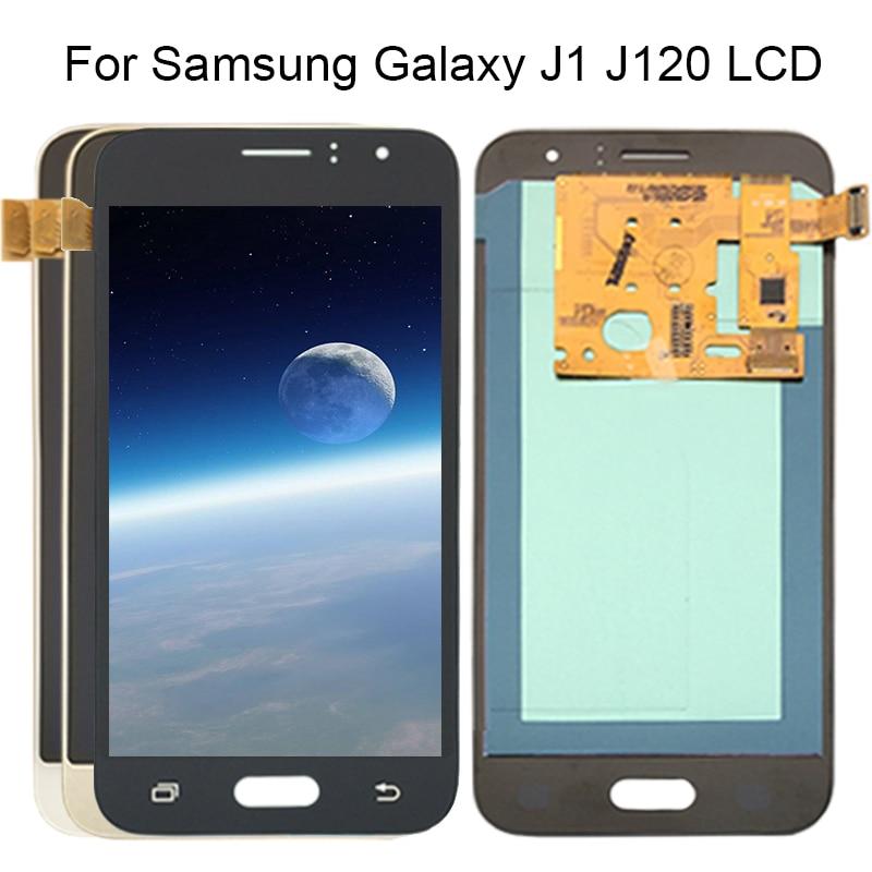 100% Test LCD pour SAMSUNG GALAXY J1 2016 LCD J120 J120f J120M J120H affichage écran tactile numériseur affichage pour Samsung J120 lcd