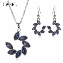 CWEEL Turkish Jewelry For Women Vintage Nigerian Wedding African Beads Jewelry Set Imitation Crystal Indian Jewelry Accessories(China)