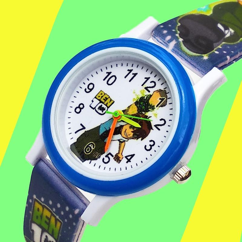 Kids Watches Printed-Strap Children Quartz Girls Clock Birthday-Gift Boys Student