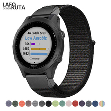 Laforuta 26mm 22mm Nylon Band for Garmin Fenix 5X 5 Forerunner 945 935 3 Strap Quick Release Bracelet Loop Easyfit New