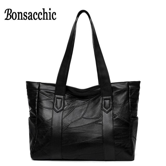 8a793efbd Bonsacchic Grande Sacos de Mão Das Senhoras Bolsa De Couro Das Mulheres  Bolsas De Luxo Mulheres
