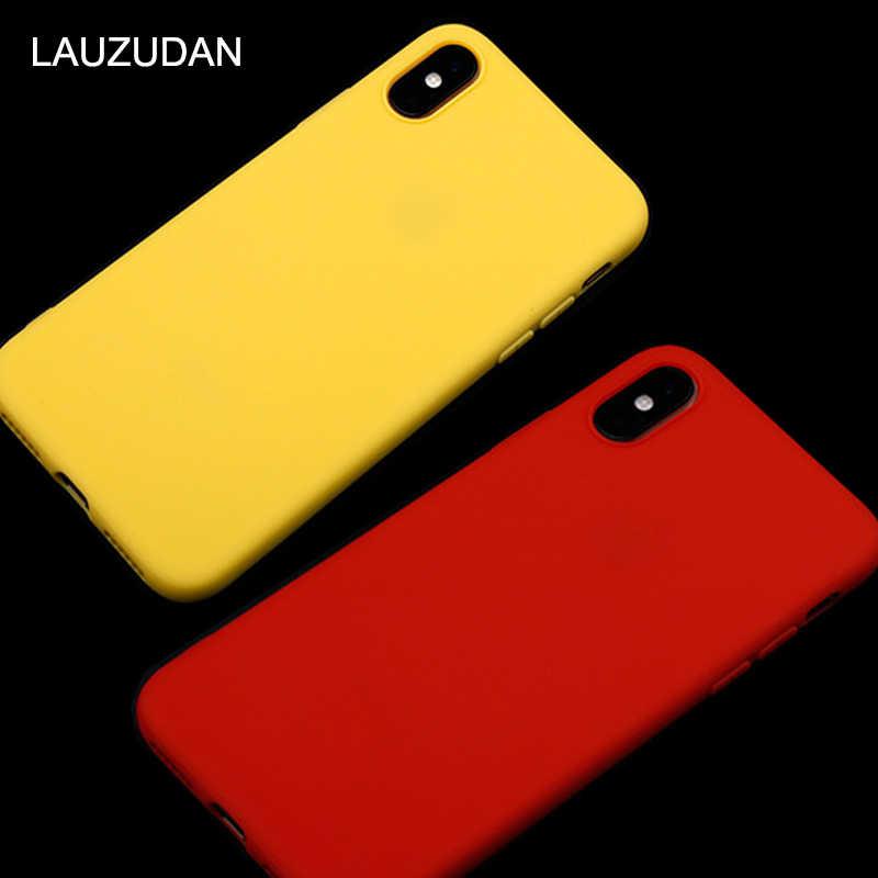 Matte Soft Silicon สำหรับ iPhone 11 กรณี iPhone 7 กรณี Candy สำหรับ iPhone 7 8 6 6 S plus 5 S SE 11 Pro X XR XS MAX