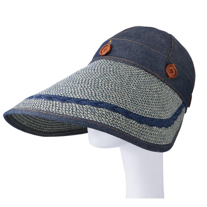 COKK Sombreros Mujeres Gran Ala Ancha Grande Playa de Verano Sombrero - Accesorios para la ropa - foto 5