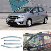 4pcs New Smoked Clear Window Vent Shade Visor Wind Deflectors For Honda Fit