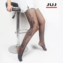 Sexy Women Lingerie Stripe Elastic Stockings Transparent Black Fishnet Stocking Thigh Sheer Diamonds Tights Embroidery Pantyhose sexy women patchwork tights lady color stitching black stockings spring autumn twisted knee stocking pantyhose tights