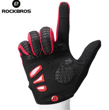 ROCKBROS Cycling Gloves Full Finger Touch Screen GEL Bike MTB Outdoor Sports Winter Running Bicycle Mittens Men Women