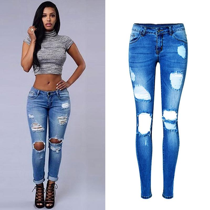 Women Boyfriend Jeans Low Waist Slim Fit Jeans For Women Free Shipping Women Brand Designer Jeans