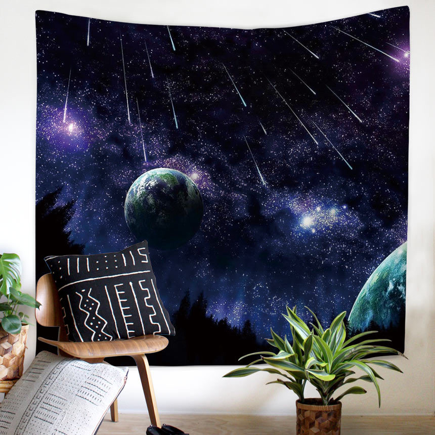 psychedelic tapestry tapiz pared tela Galaxy Space Pattern Tapestry wall home decor hanging blanket Polyester meteor carpet in Tapestry from Home Garden