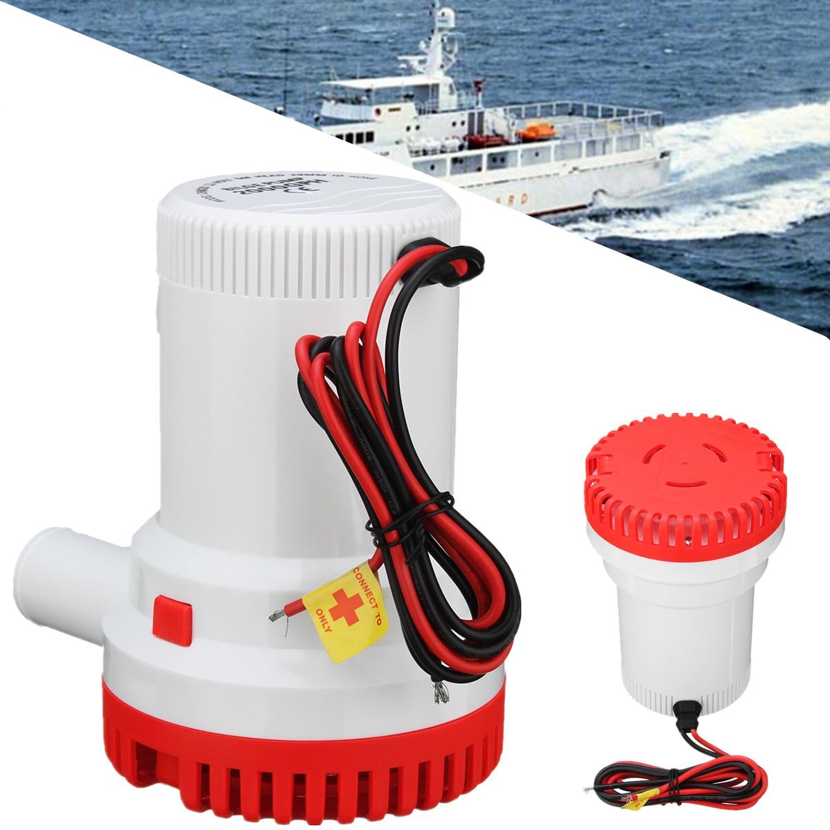цена на 12V 8A 2000GPH Submersible Marine Boat Bilge Water Pump Fishing Caravan Camping Moisture Tight Seals Vibrationless Operation