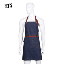Original KEFEI High Quality Amazon Apron Cotton Denim Restaurant Work Leather Chef Cooking Kitchen Aprons for Woman