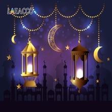 Laeacco Happy Eid Mubarak Muslim Lantern Photographic Ramadan Background Baby Scene Vinyl Photography Backdrop Wall Photo Studio