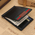 Wallet men leather money clip top quality clamp for money famous brand men wallets clip black purse