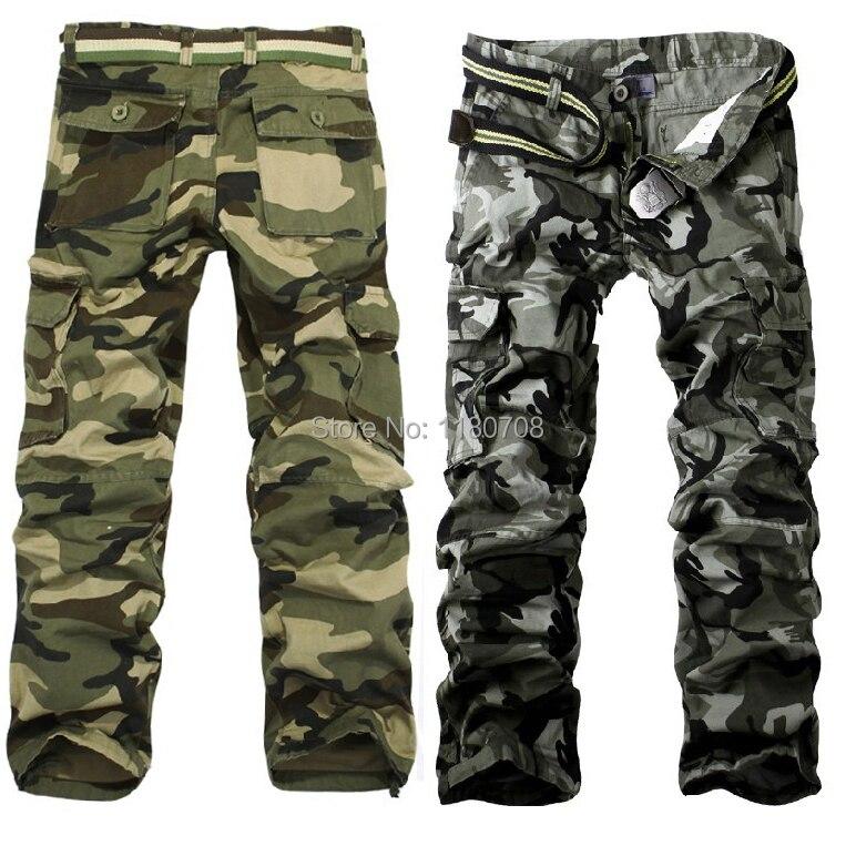 8847f4d5e0c9e الأزياء جيب الرجال التمويه السراويل عارضة سماكة السراويل البضائع السراويل 2  الألوان