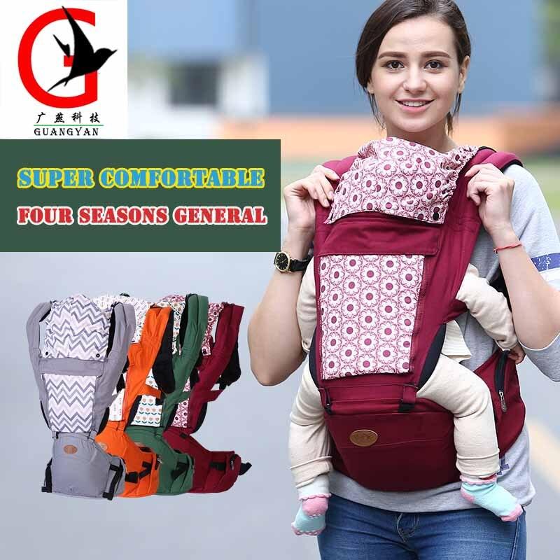 Porte-bébé ergonomique écharpe nouveau-né Wrap sacs à dos porte-bébé réglable enfants porte-bébé avec chapeau Bbl-3