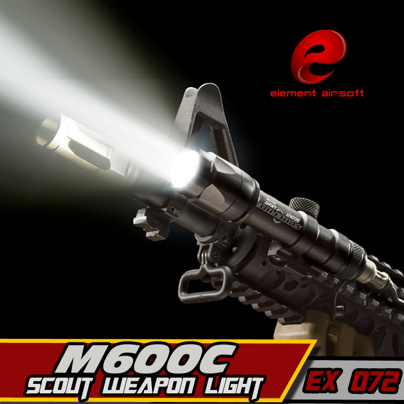 EX 072 Element M600C LED Scout Weapon Light pistol Rail Aluminum alloy Hunting Tactical Flashlight tactical light ex 359 element tactical x300 ultra led weapon light pistol lanterna airsoft flashlight with picatinny rail hunting weapon lights