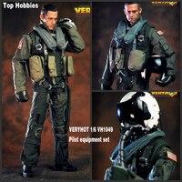 HOT FIGURE TOYS VERYHOT 1/6 VH1049 101st US Navy combat squadron pilot Equipment suit Dark Sickle Hand/Relentless Reaper Death