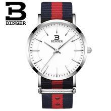 Switzerland BINGER New Style Simple Creative Quartz Watch Women Casual Sport Business Watch Nylon Design Montre hombre