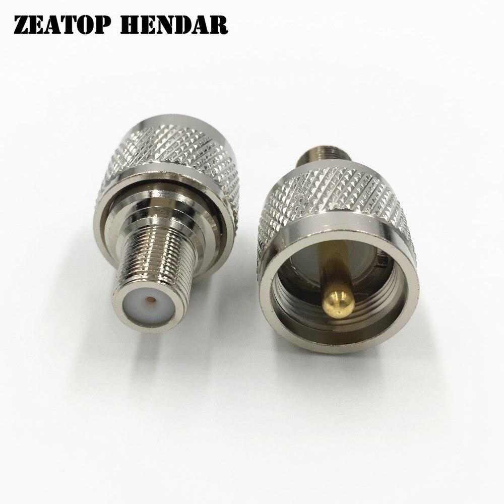 50Pcs Brass PL 259 SO239 UHF Male Jack to F Female Plug Straight PTFE RF Coaxial