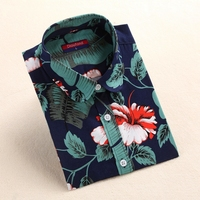 Brand Cotton Blouses Women Shirts Floral Vintage Long Sleeve Women Tops Blusa Feminina Elegant Ladies Plus