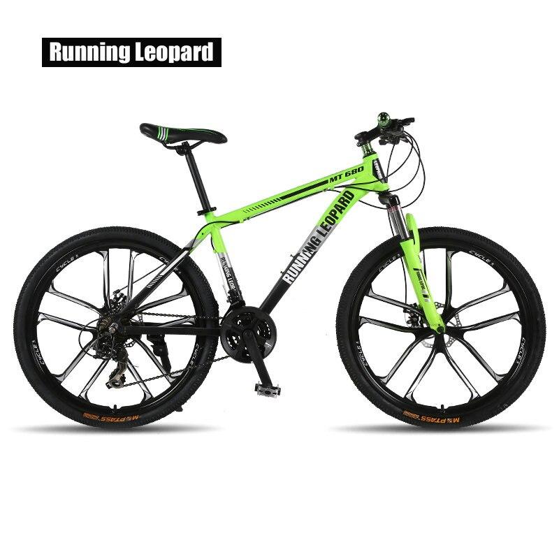 Tênis de Leopardo mountain bike 26 polegada 21/24 motos de velocidade Mecânica do freio de disco duplo de alumínio frame da liga de mountain bike bicicleta