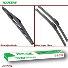 цена на Front And Rear Wiper Blades For KIA Sportage 2011 2012 2013 2014 2015 Natural Rubber Windscreen Windshield Auto Car Accessories