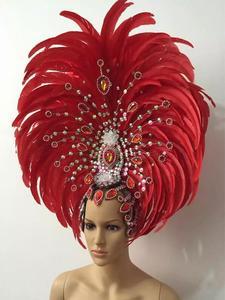 Image 3 - Lông Vũ Quần Áo Diễn Sân Khấu Sàn Diễn Carnival Mũ Đội Đầu Hoa Quán Rượu Đảng Nam Nữ