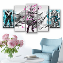 Wall Art Anime Picture Canvas Poster Prints 5 Piece Painting Dragon Ball For Living Room Decor Artwork