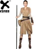 XCOSER Звездные Войны Пробуждение силы Рей косплэй костюм, полный набор для женщин костюмы из фильмов для костюмированных представлений интим