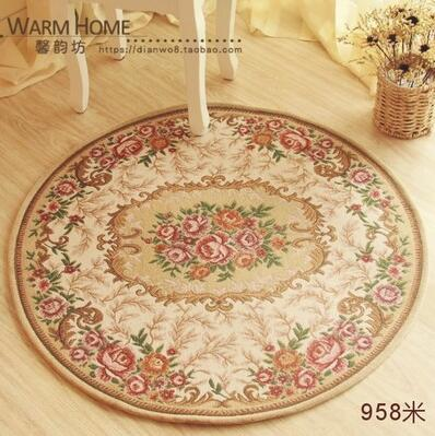 Rustique pastorale fleurs jacquard imperméable tapis tapis couverture paillasson étage chambre salon tapetes lfombras zone 958 #