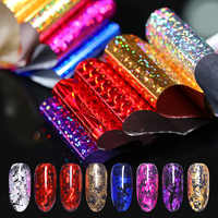 50/24/15Pcs 4*20cm Shimmer Starry Sky Nail Foils Manicure Nail Transfer Sticker DIY Tips Nail Art Decorations Holographic Paper