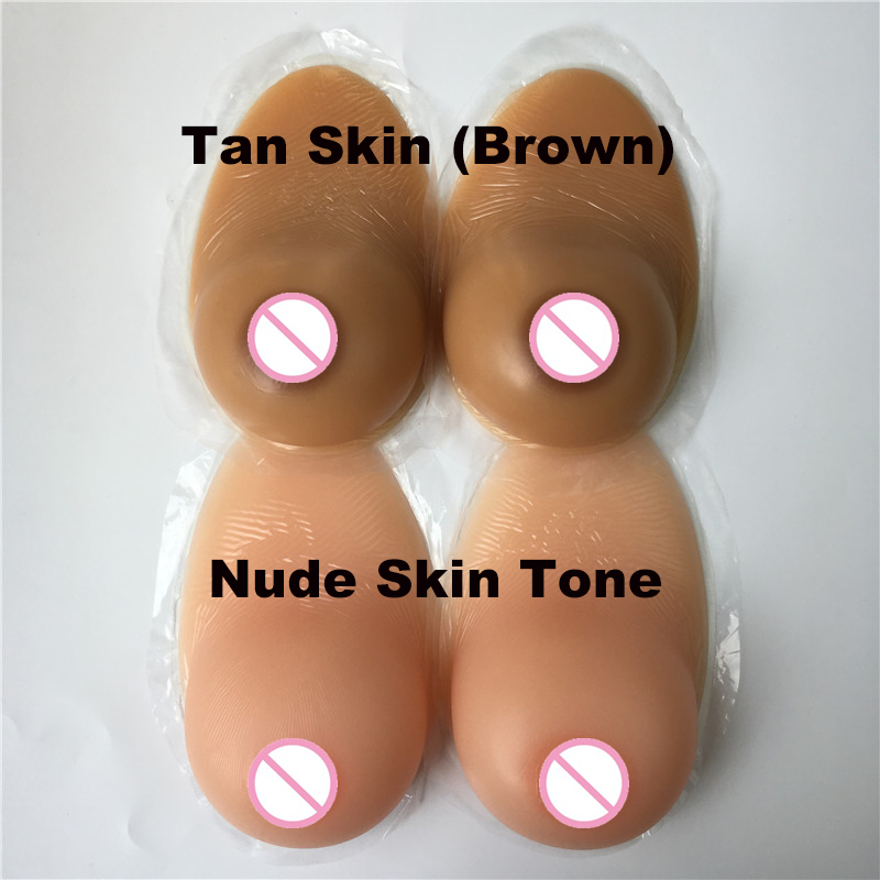 self adhesive silicone breast form crossdresser fake boobs soft realistic sagging shape CD TD cosplay