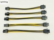 5 PCS 20 CM 6Pin para 6 Pin PCI Express PCIe Gráficos 6Pin Conector Macho para Fêmea Cabo De Extensão de Energia cartão de Cabo De Extensão de Energia