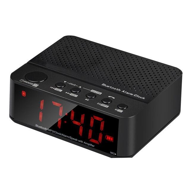 HFES Nuovo Multifunzionale Mini Altoparlante Altoparlante del Bluetooth Portatile Senza Fili Amplificatore Radio FM HA CONDOTTO L'orologio di Allarme Senza Fili Per La Telefonia Mobile