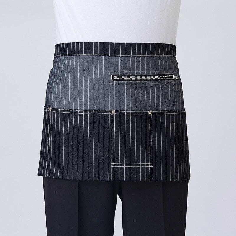 2017 Nieuwe Schorten Met Zakken Denim Half Body Cafe Cowboy Uniform Unisex Schorten voor Vrouw Mannen Keuken Chef Ober Koken WQ038 - 6