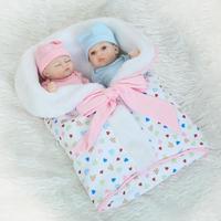 NPK Mini Newborn bebe Reborn Twins Doll 10 inch Soft Full Silicone Girl and Boy Bonecas Babies bathable Kids Birthday Toys