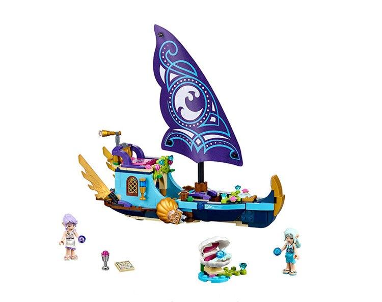 Bela 10411 311Pcs Friends Elves Figure Naida Epic Adventure Ship Building Blocks Bricks Action Educational Toys Compatible 41073
