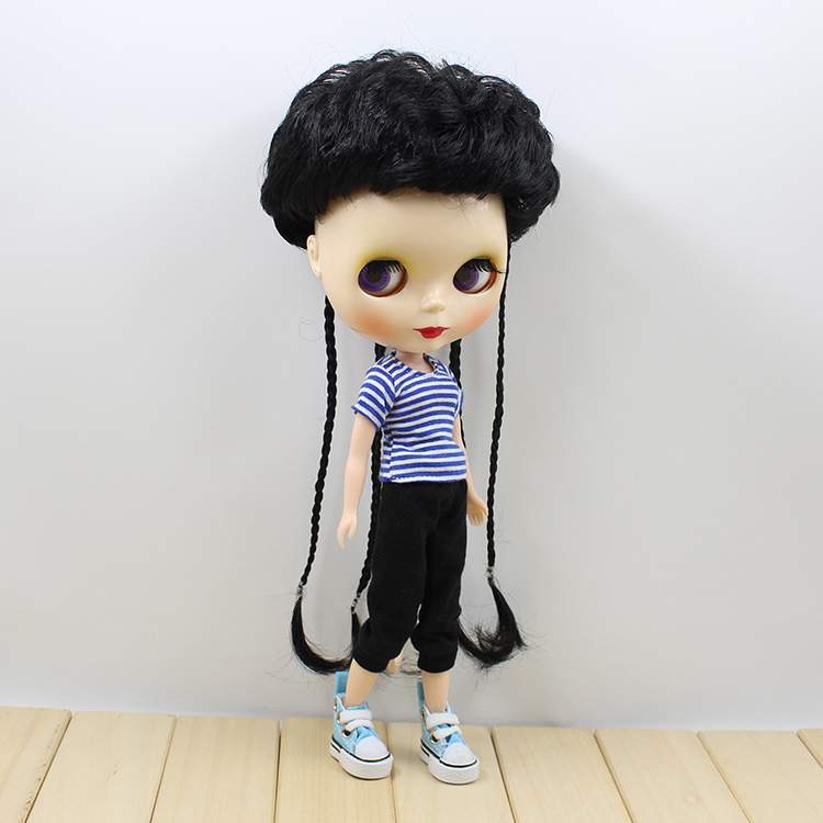 Neo Blyth Nude doll three colors short hair with braids cute fashion BJD Blyth dolls for ...